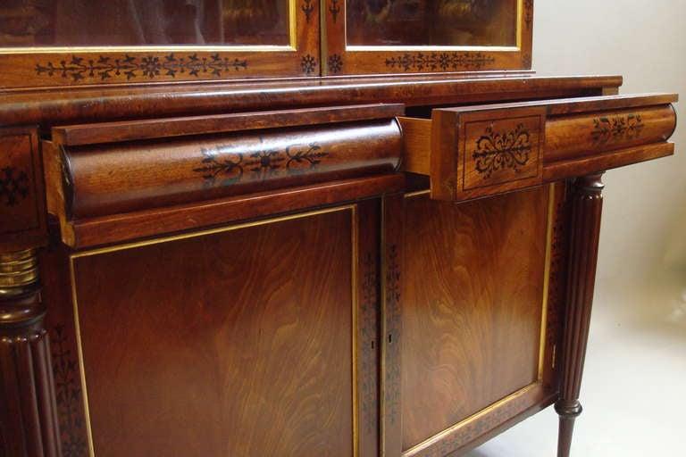 Good Regency Mahogany And Ebony Inlaid Small Bookcase At