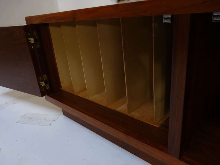 Custom Mosaic Walnut Cabinet For Record Storage C196039s