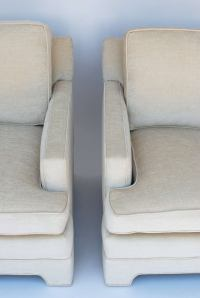 Mid Century Baker Style Lounge Club Chairs at 1stdibs