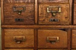 Masterly Solid Quarter Sawn Or Stackable Tiger Oak Card Catalog Filing Cabinet At Card Catalog Cabinet Hardware Card Catalog Cabinet Ideas