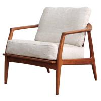 Milo Baughman Teak Lounge Chair at 1stdibs