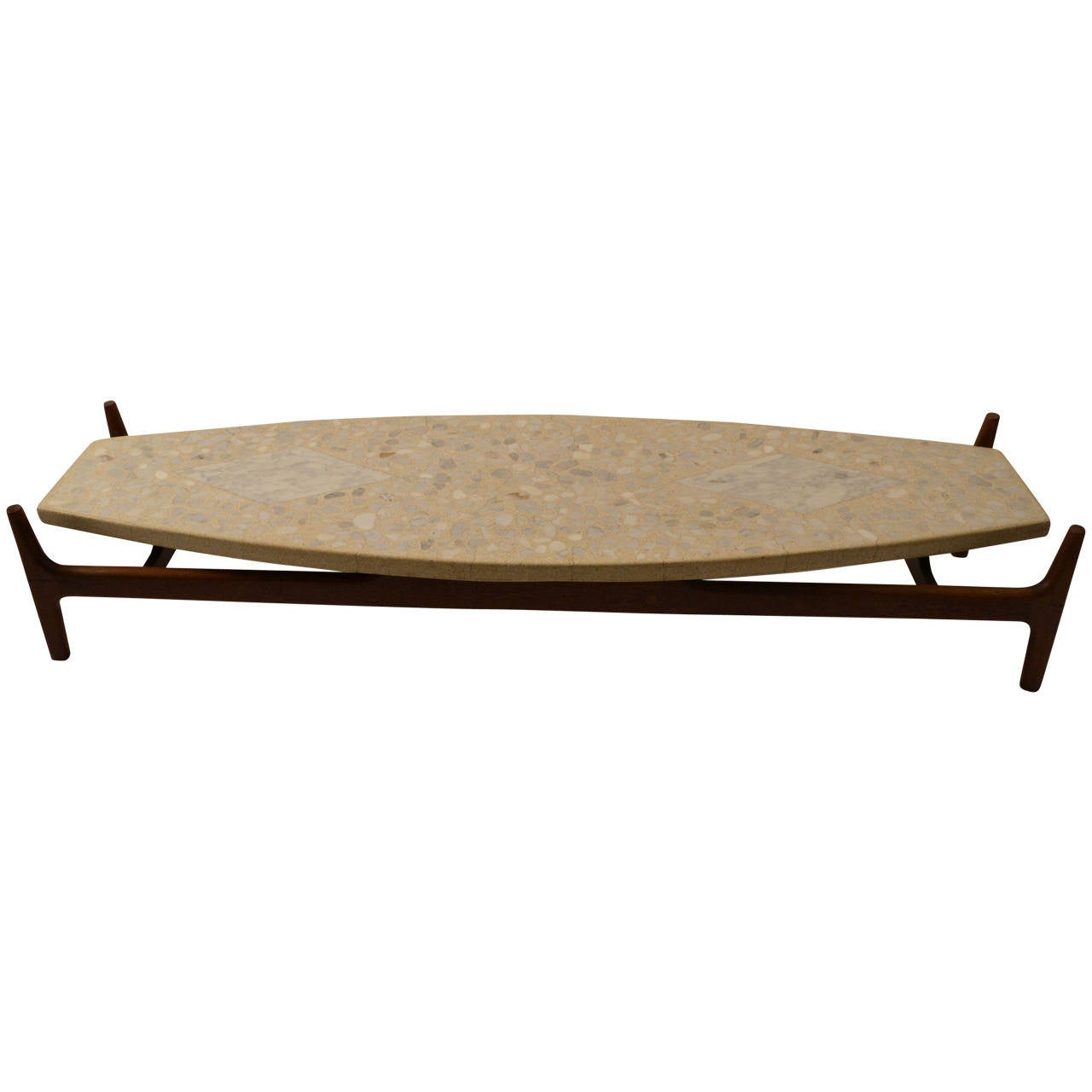 Surfboard Tables For Sale Probber Surfboard Terrazzo Top Coffee Or Cocktail Table
