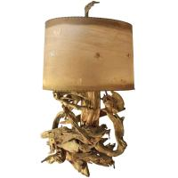 Large Driftwood Table Lamp at 1stdibs