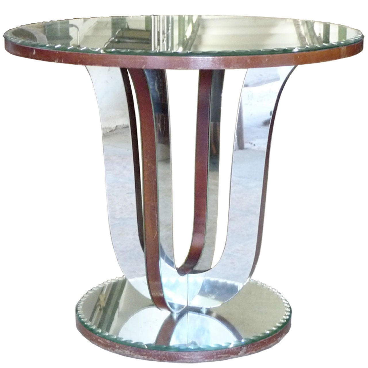 Decorative Mirror Table French Art Deco Mirrored Table