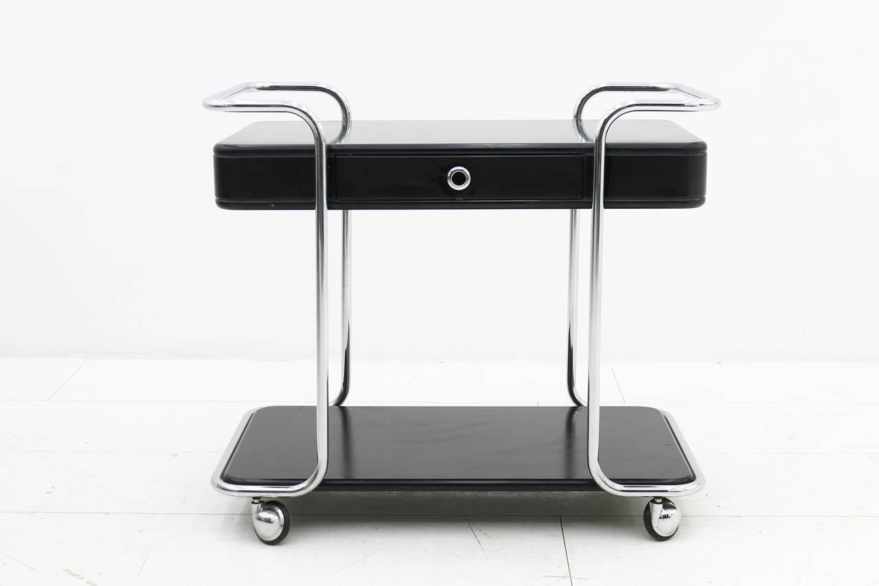 Vintage Möbel Dreieich Italian Bar Trolley With Drawer Circa 1960s At 1stdibs