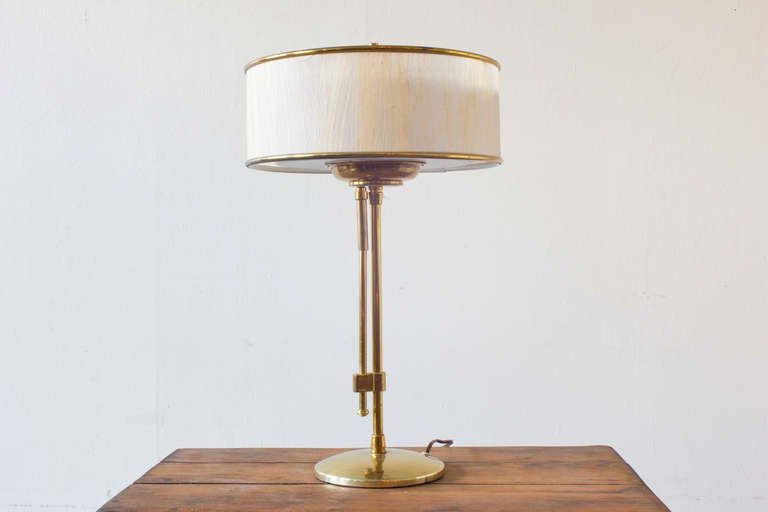 Brass Table Lamp By Lightolier At 1stdibs