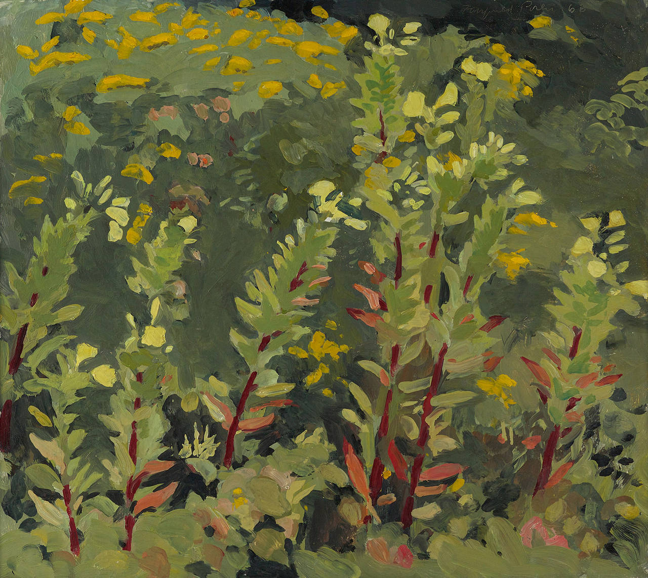 Fairfield Porter Still Life Fairfield Porter Primroses And Goldenrod Painting At