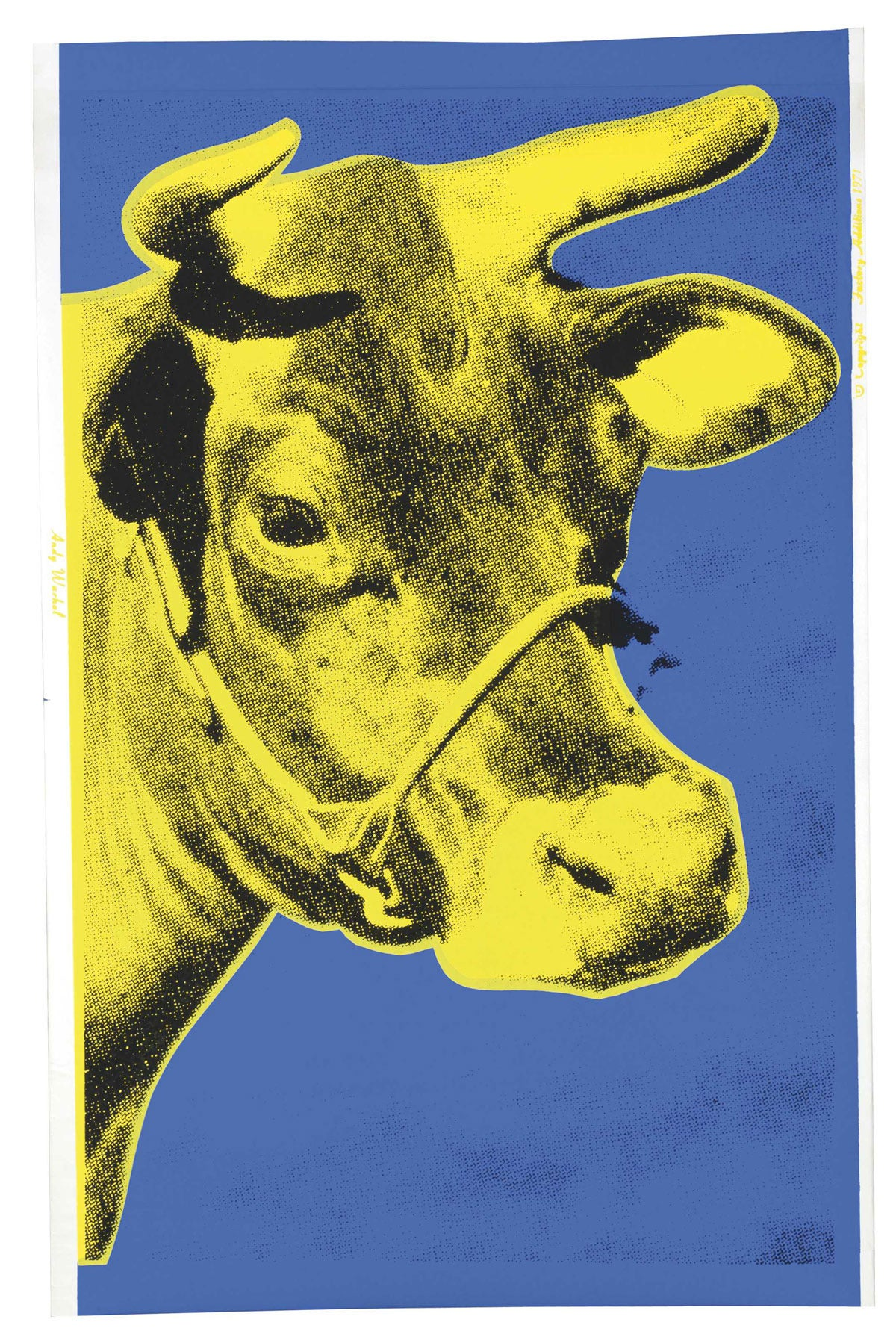 Animal Print Pink Wallpaper Andy Warhol Cow Blue And Yellow Fs Ii 12 Print For