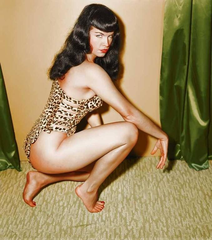 New Year 2014 Hd Wallpapers Irving Klaw Bettie Page Colorized Master Print