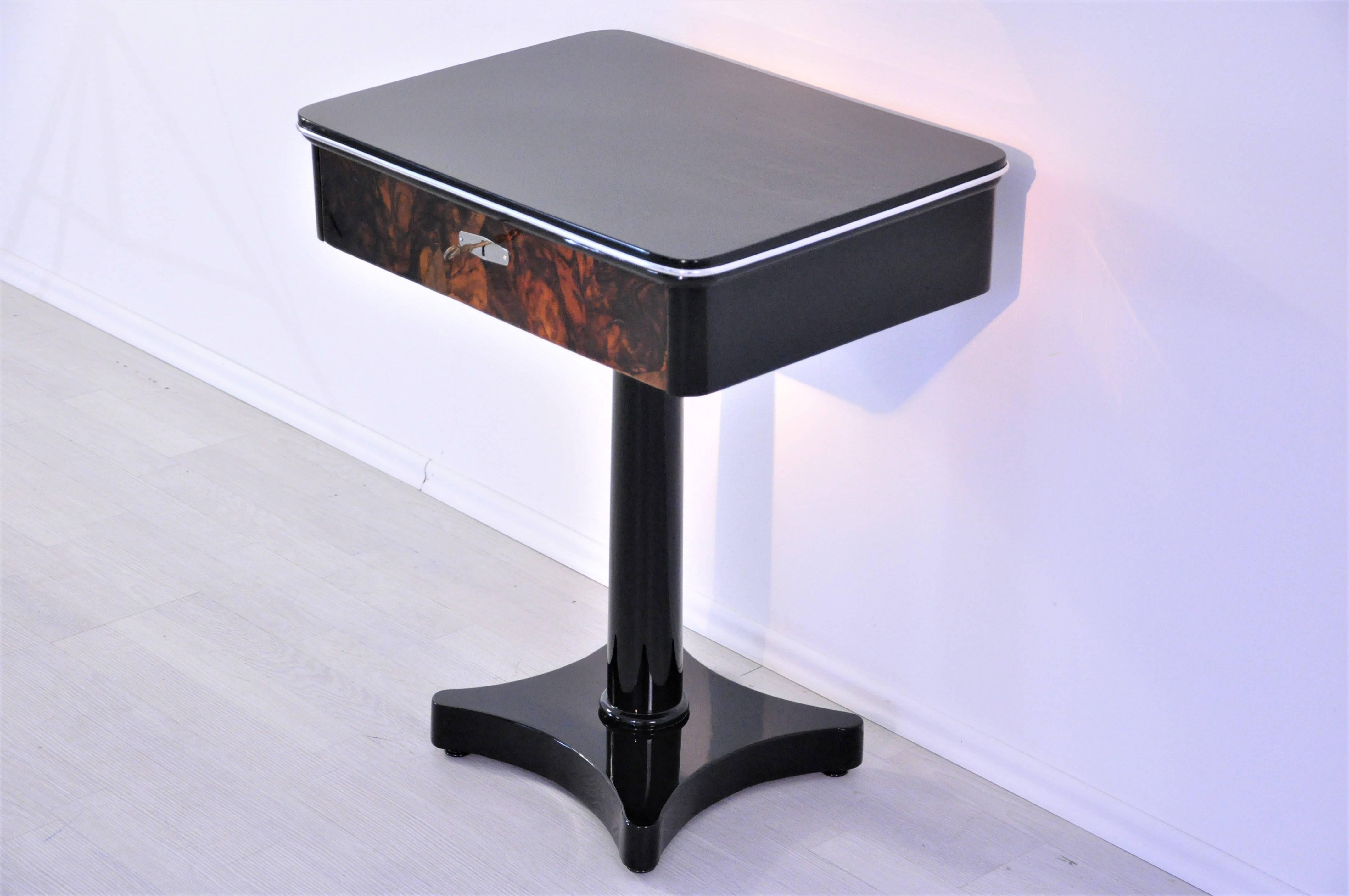 Petite Console Design Art Deco Design Console Table With A Walnut Drawer