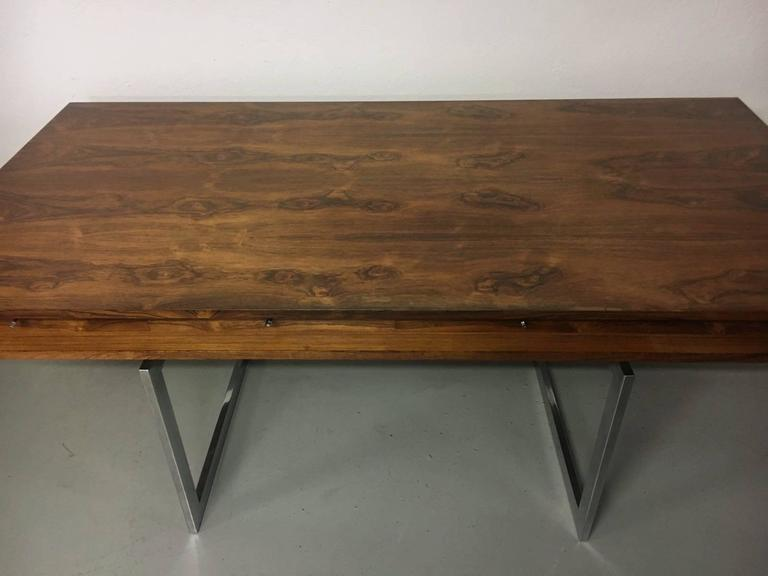 Rosewood And Steel Desk By Bodil Kjaer At 1stdibs