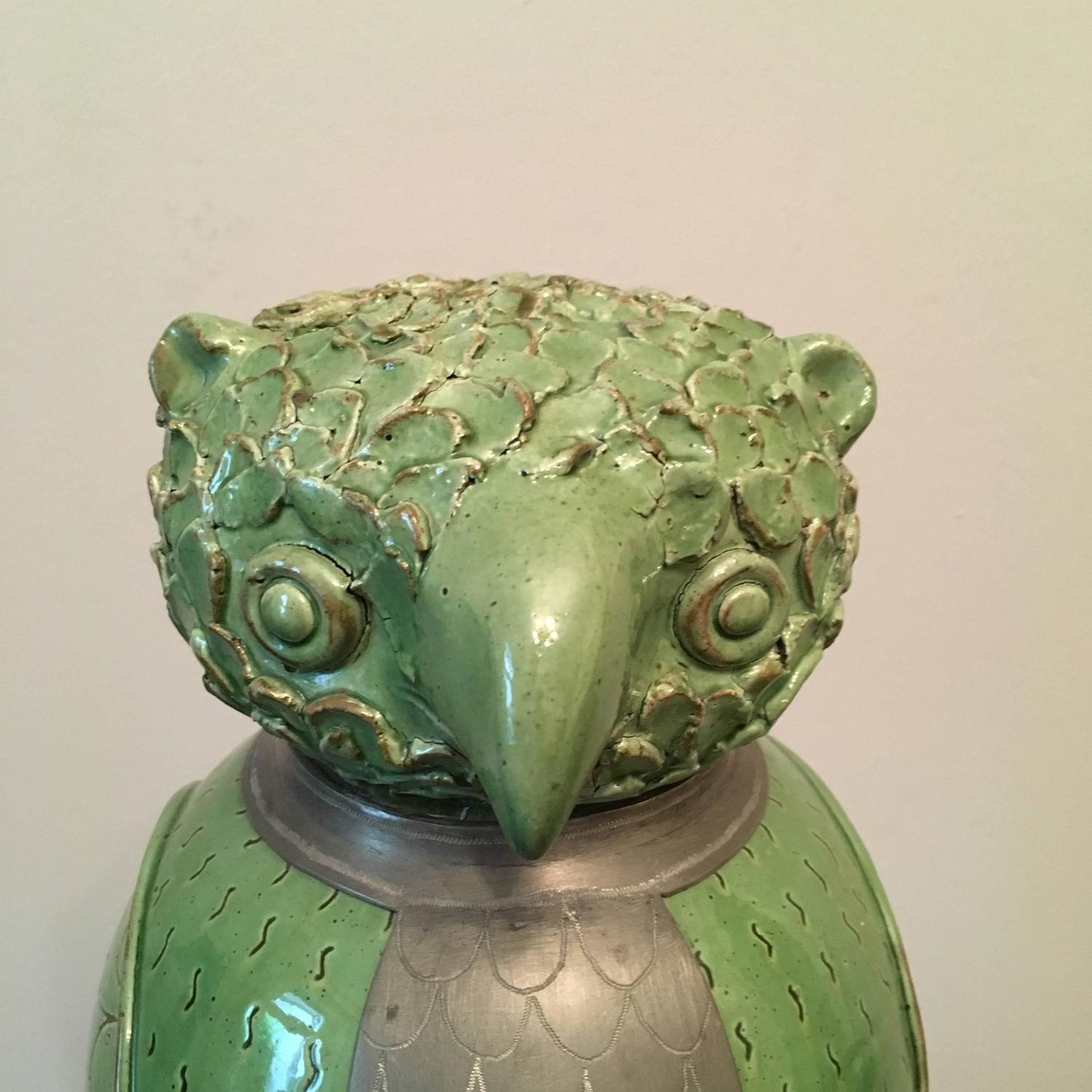 Pottery Owls For Sale Pottery Owl Storage Jar For Sale At 1stdibs