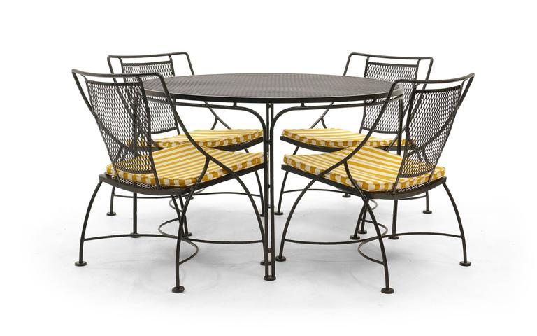John Salterini Lounge Height Patio Table And Four Chairs