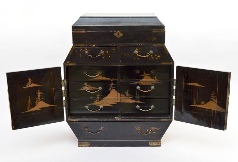 19th Century Japanese Meiji Period Lacquered Wood Table