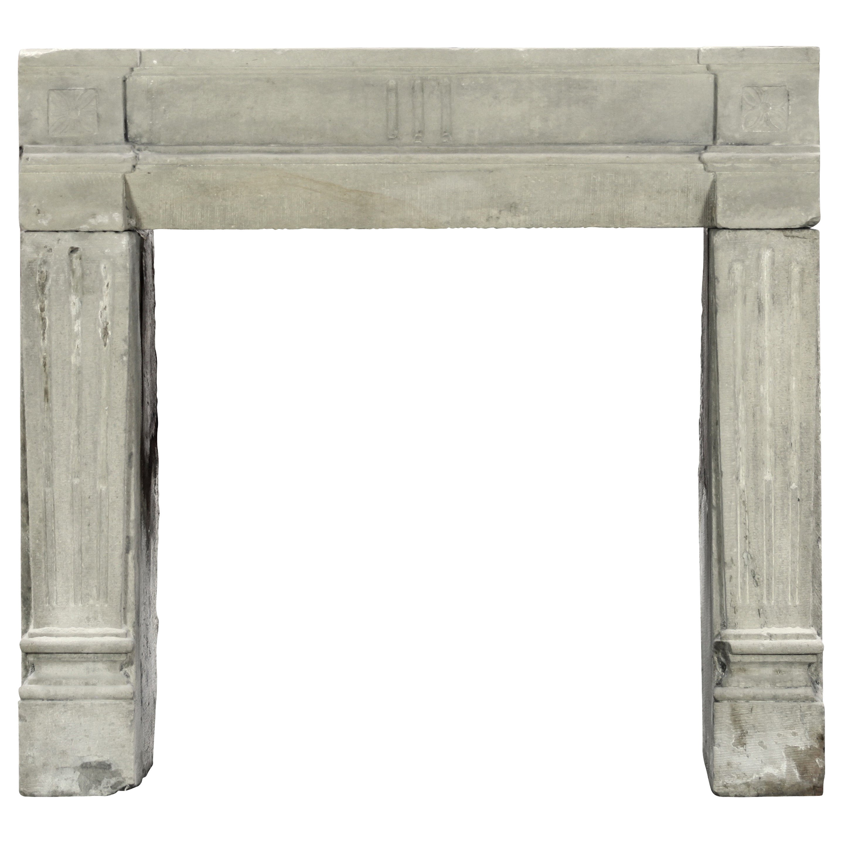 French Country Fireplace 18th Century Petite Grez Stone French Country Fireplace Surround