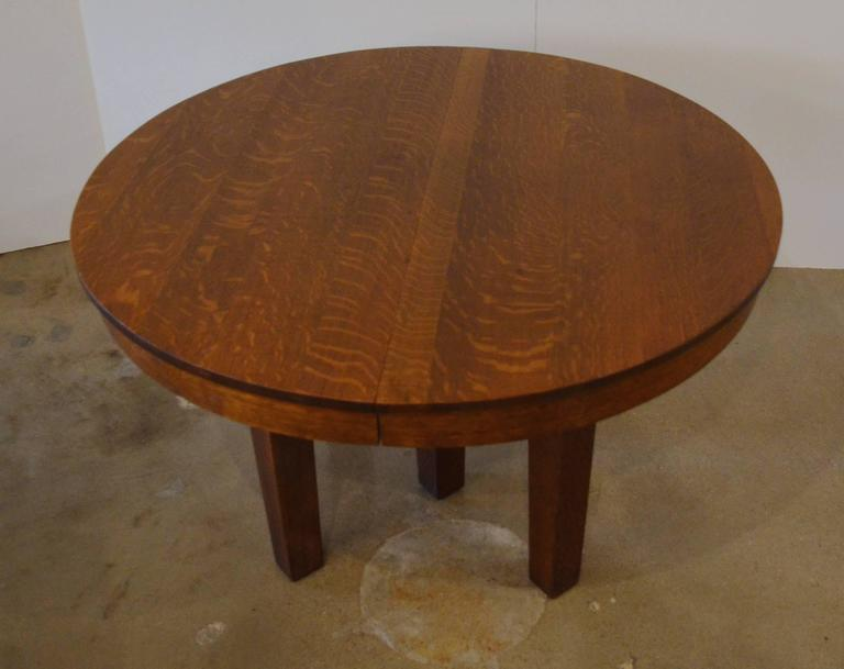 Ljg Stickley Round Dining Table At 1stdibs