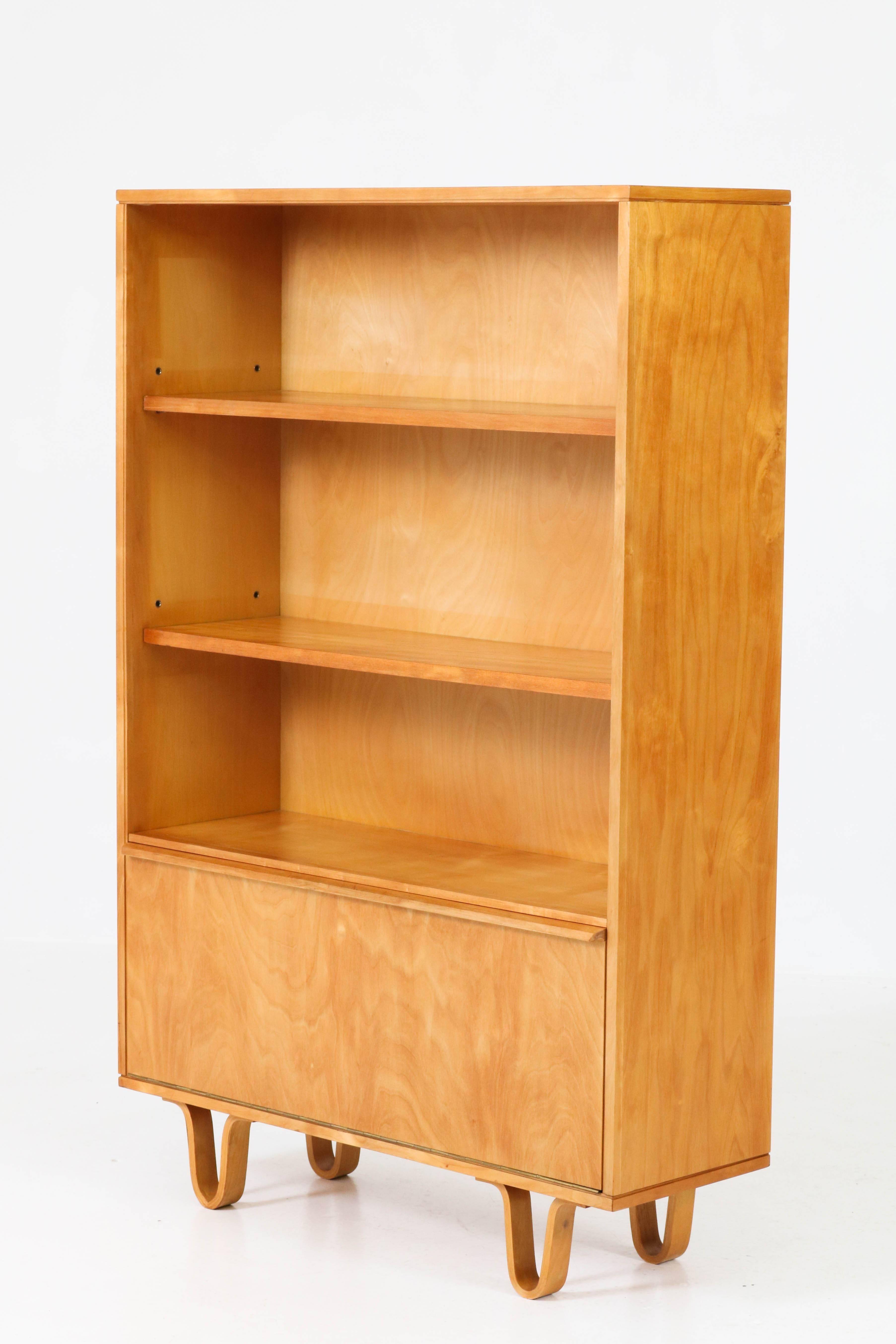 Birch Mid Century Modern Bb03 Bookcase By Cees Braakman