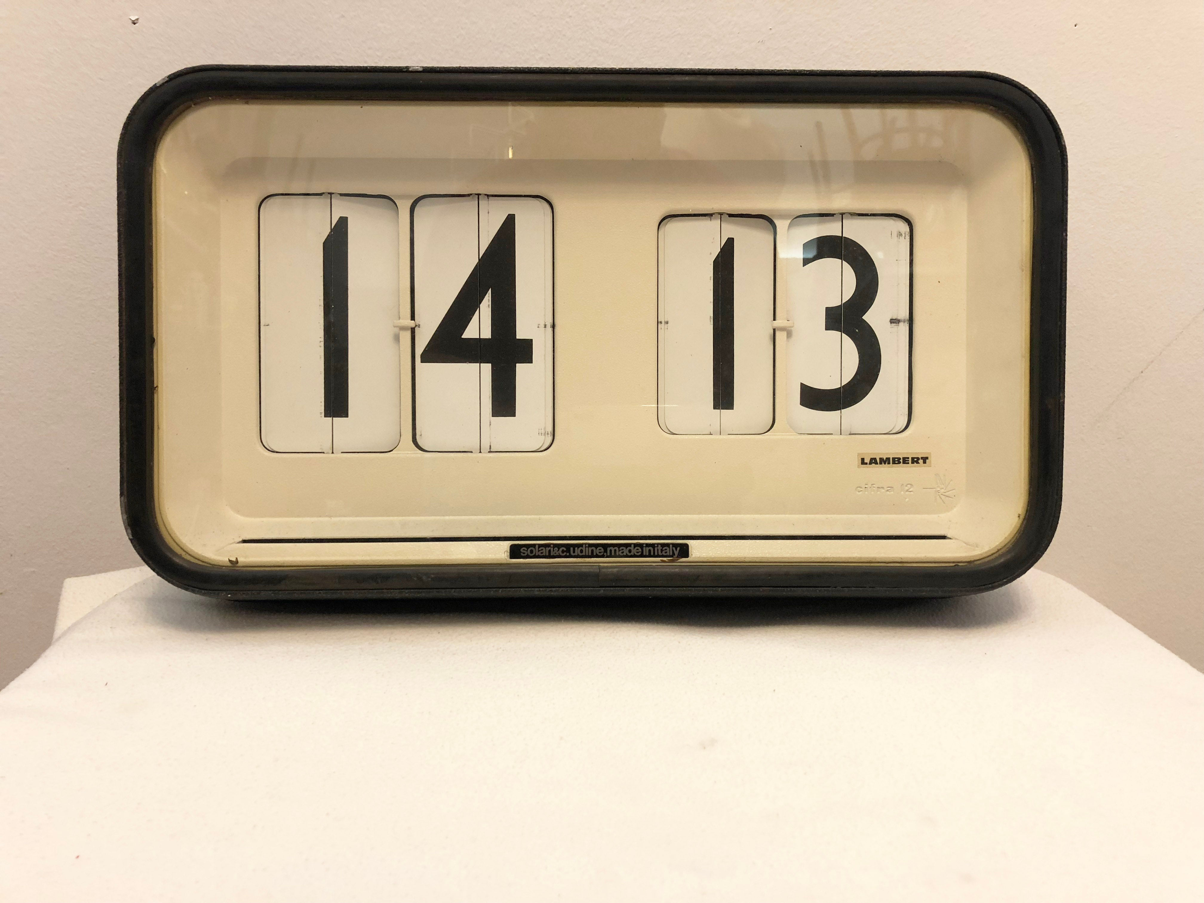 Flip Clock Large Station Airport Factory Wall Flip Clock By Gino Valle For Solari Udine