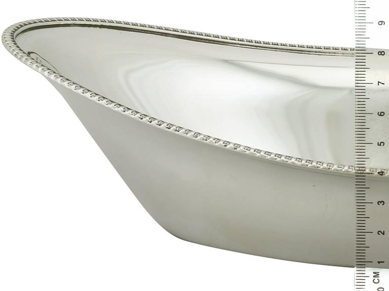 Antique Sterling Silver Bread Dish By Atkin Brothers For