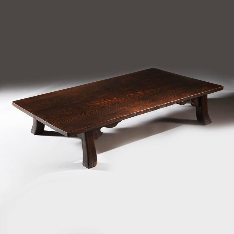 Japanische Couchtische Unique Japanese Low Table - Shou Sugi Ban Cedar Wood