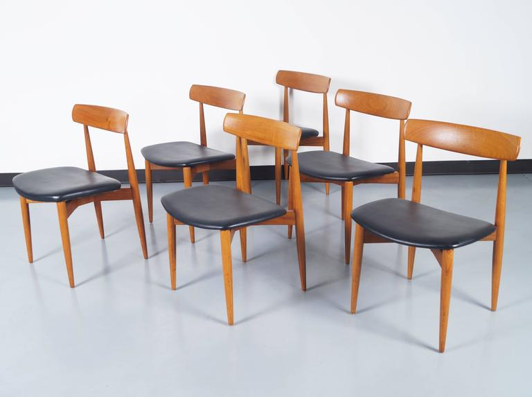 Danish Teak Dining Chairs By Hw Klein For Sale At 1stdibs
