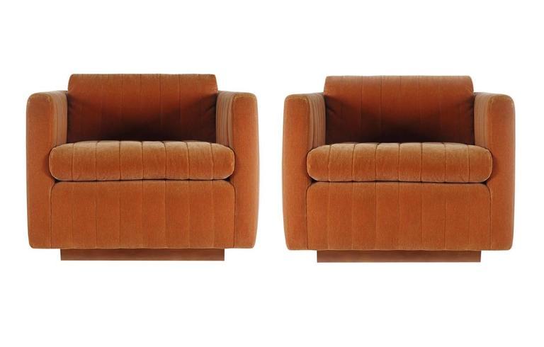 Mid Century Modern Milo Baughman Art Deco Cube Club Lounge