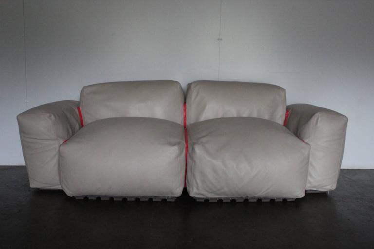 Sofa With Two Armchair And Ottoman Suite Of Cappellini