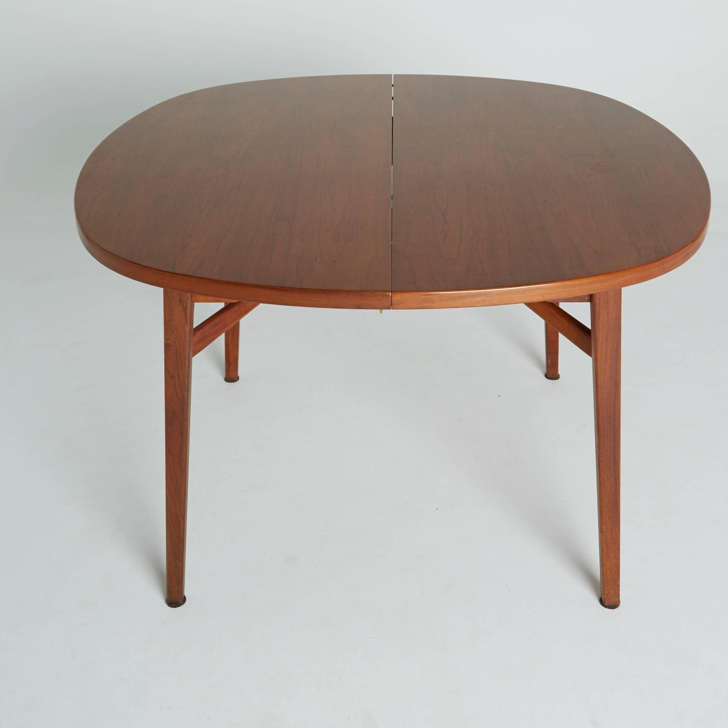 Expandable Round Dining Table For Sale Jens Risom Teak Expandable Dining Table For Sale At 1stdibs