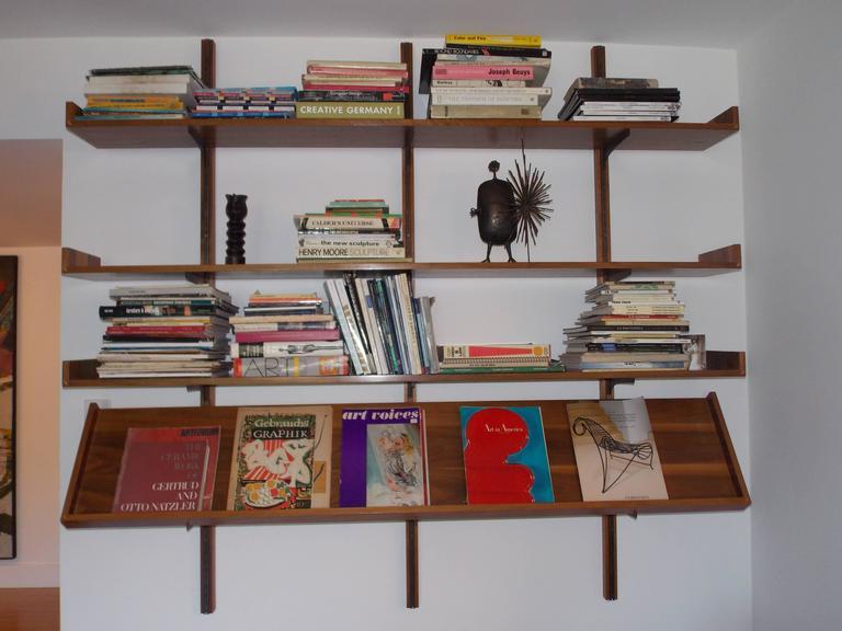 Rare Milo Baughman Wall Shelf With Magazine Rack At 1stdibs