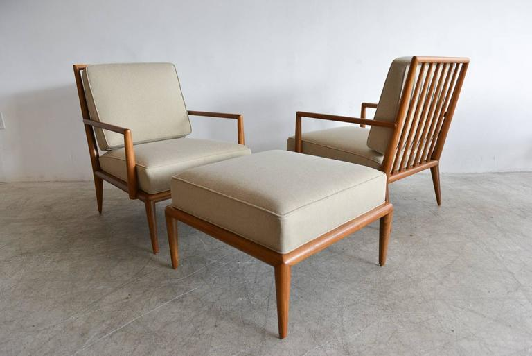 Pair Of Th Robsjohn Gibbings Spindle Back Lounge Chairs