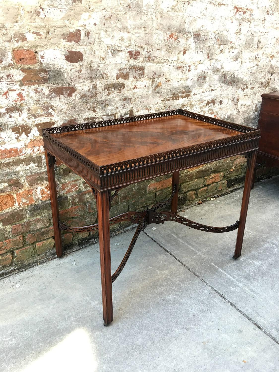 Gallery 1 Furniture Centre English 18th Century Silver Table With Pierced Gallery And
