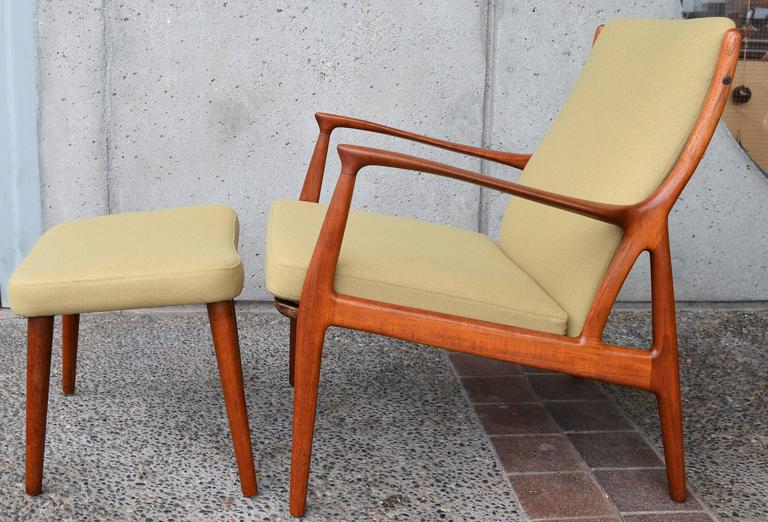 Horsnaes Teak Lounge Chair And Ottoman By Erik Kollig
