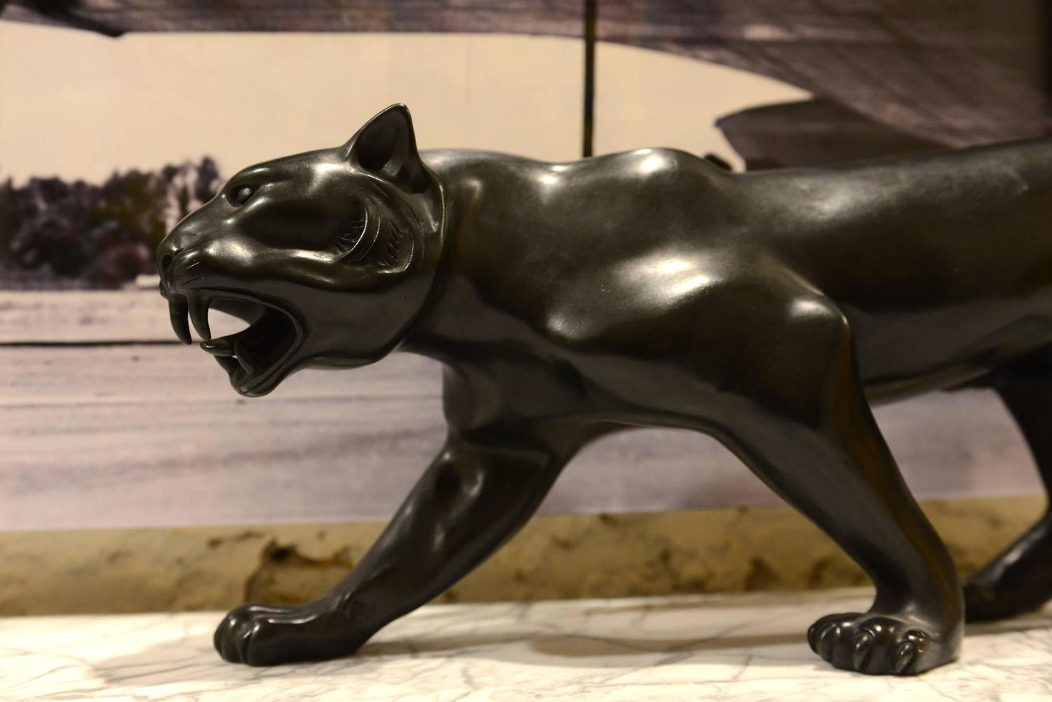 Panther Statue For Sale Sculpture Panther In Bronze Smooth Satin Finish 2016 For
