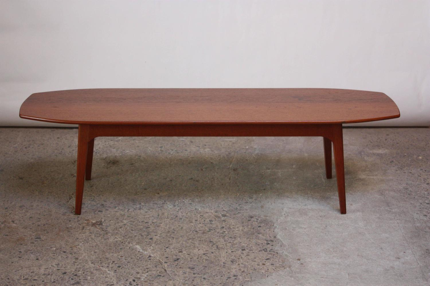 Surfboard Tables For Sale Danish Modern Teak Surfboard Coffee Table For Sale At 1stdibs