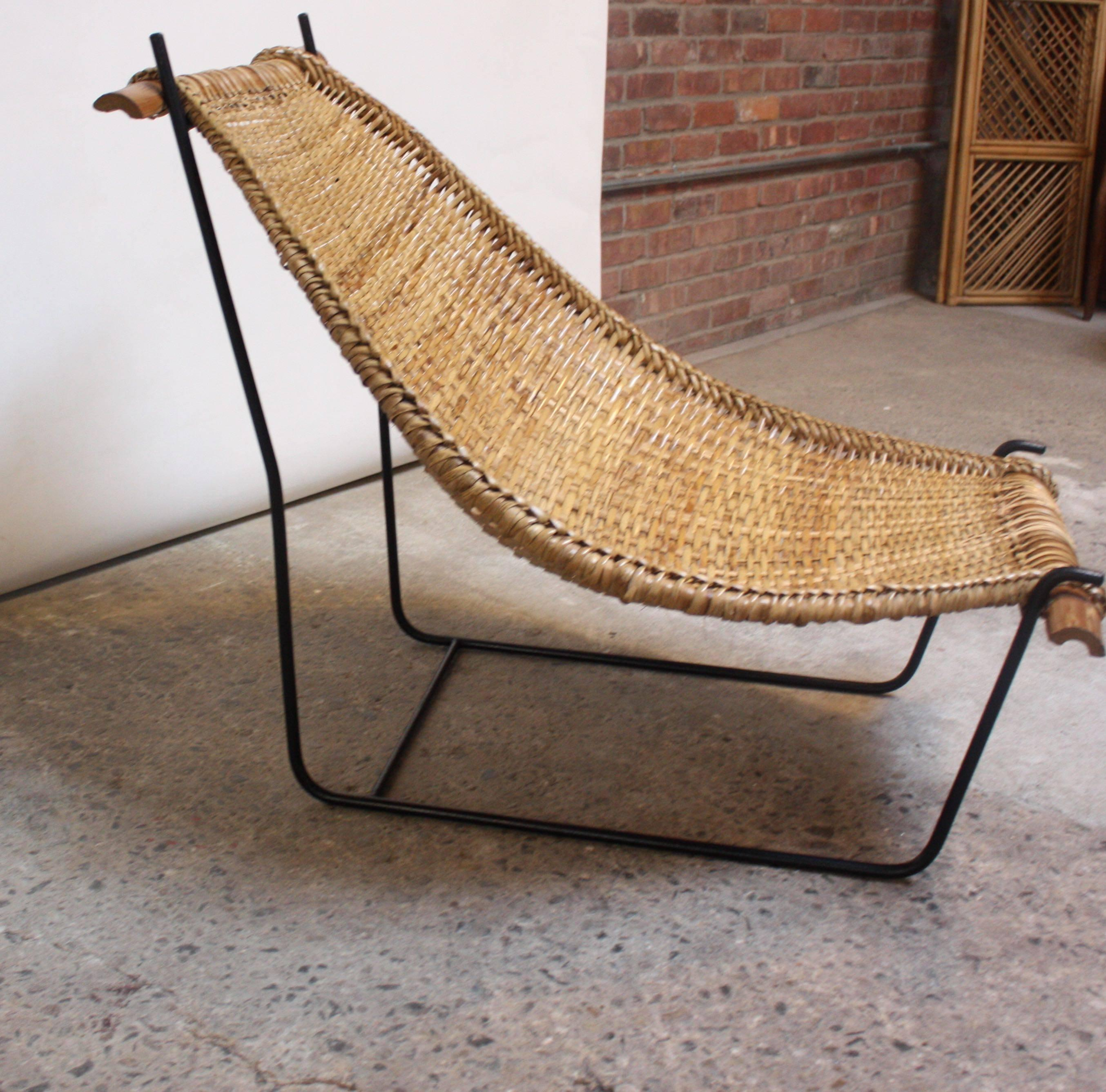 Rattan Lounge Chair Philippines John Risley Duyan Rattan And Iron Sling Chair At 1stdibs