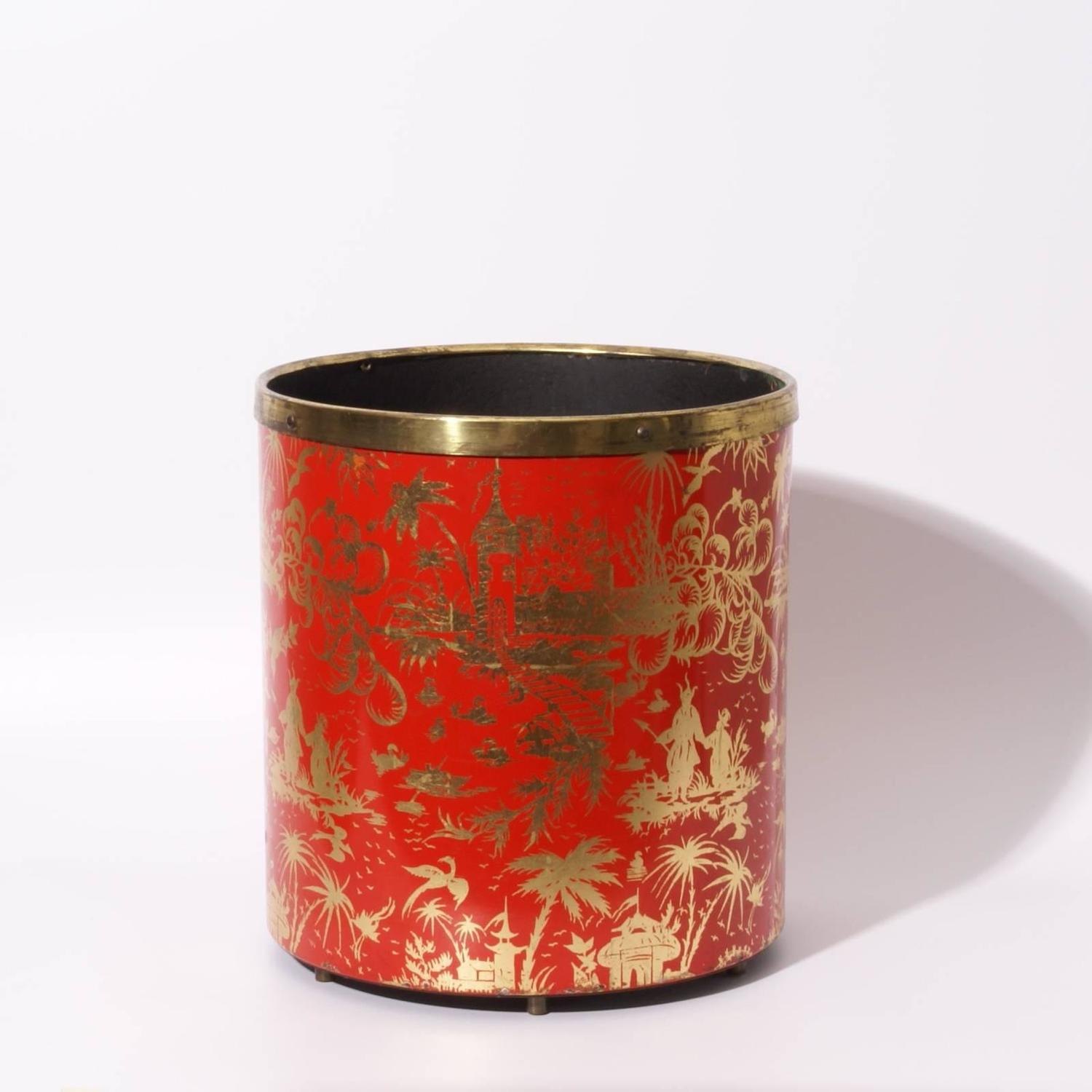 Decorative Metal Waste Baskets Piero Fornasetti 1950s Waste Basket At 1stdibs