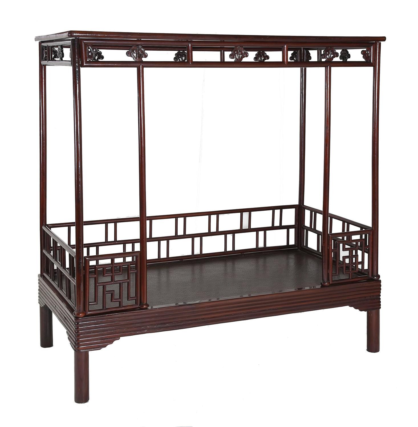 Japanese Canopy Bed Antique 19th Century Chinese Ju Mu Six Post Canopy Bed