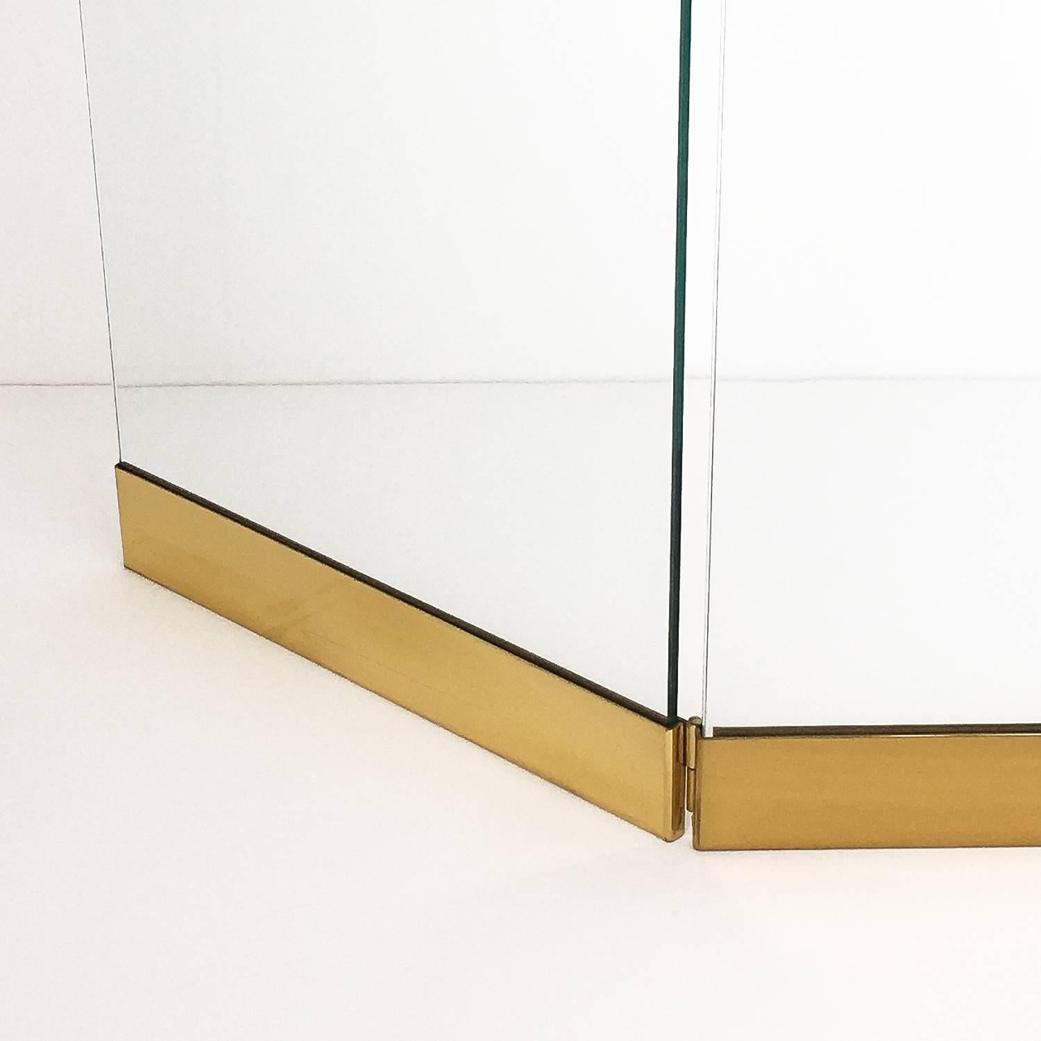 Modern Glass Fireplace Screens Modernist Brass And Glass Folding Fireplace Screen