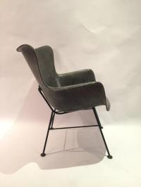 Lawrence Peabody for Selig Wingback Fiberglass Chair For ...