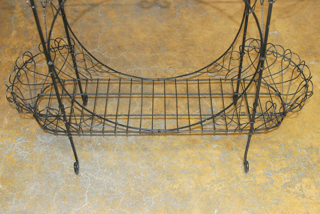 Black Wire Plant Stand Black French Wire Plant Stand At 1stdibs