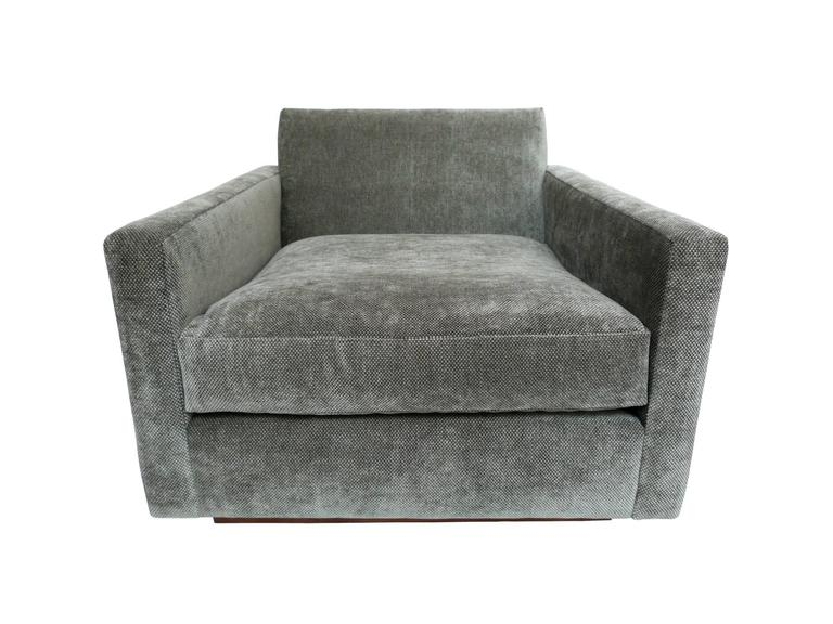 1970s Milo Baughman Gray Cube Chair At 1stdibs