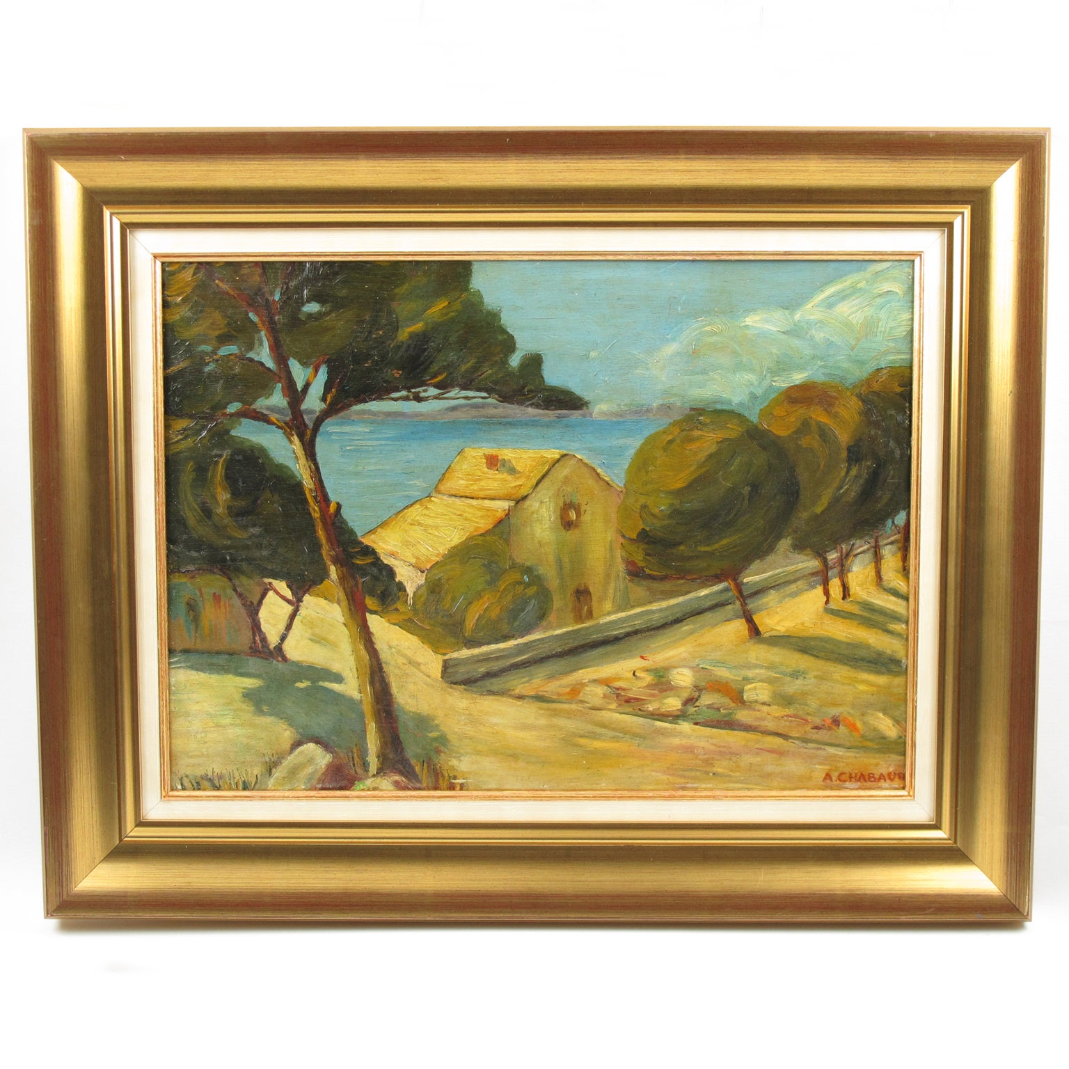 Mediterrane Küche An Bord Auguste Chabaud Oil On Board Painting French Mediterranean Seascape