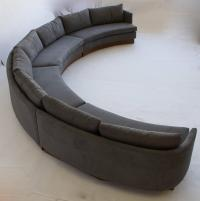 Custom Semi-Circular Sectional by Carson's of North ...
