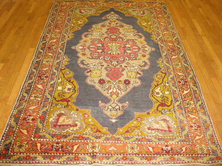 Small Hand Knotted Vintage Turkish Rug For Sale At 1stdibs