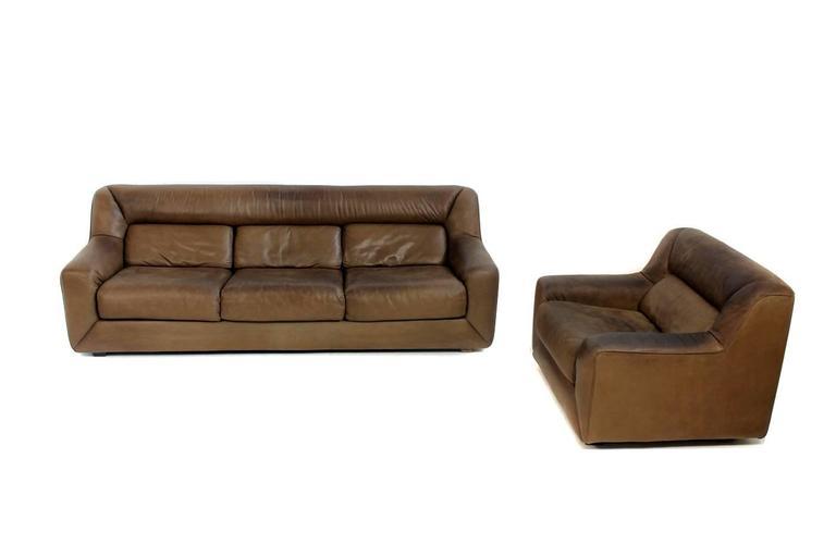 Vintage 1970s De Sede Ds 43 Cognac Leather Lounge Chair