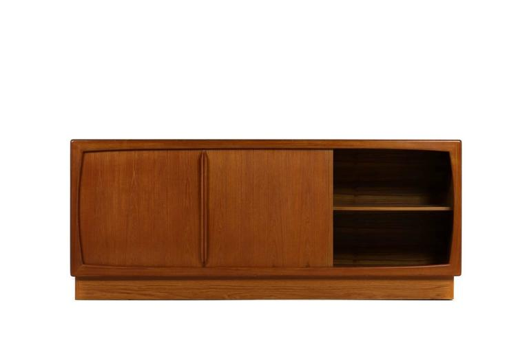 1960s Dyrlund Teak Sideboard With Sliding Doors And