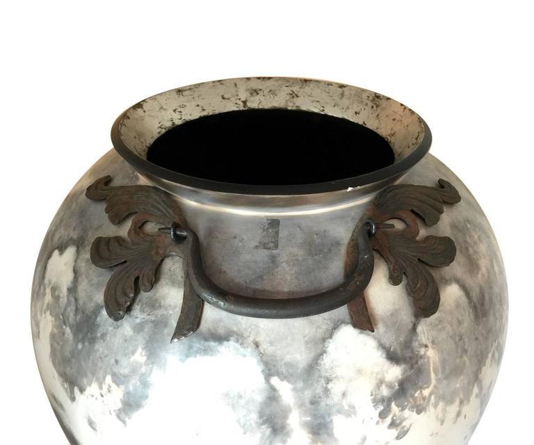 Large Metal Fired Art Vase For Sale At 1stdibs