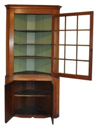 19th Century New England Corner Cabinet at 1stdibs