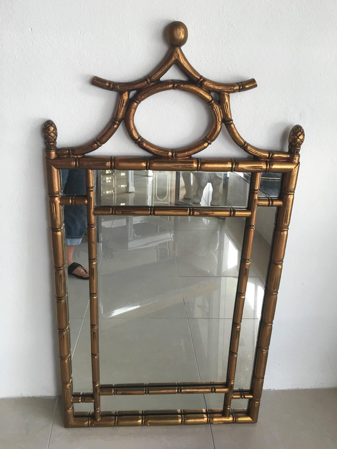Asian Style Wall Mirrors Faux Bamboo Wall Mirror Chinese Chippendale Chinoiserie