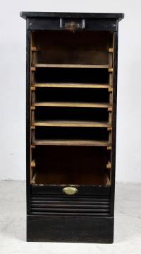 Oak Roll Front Filing Cabinet Arbor For Sale at 1stdibs
